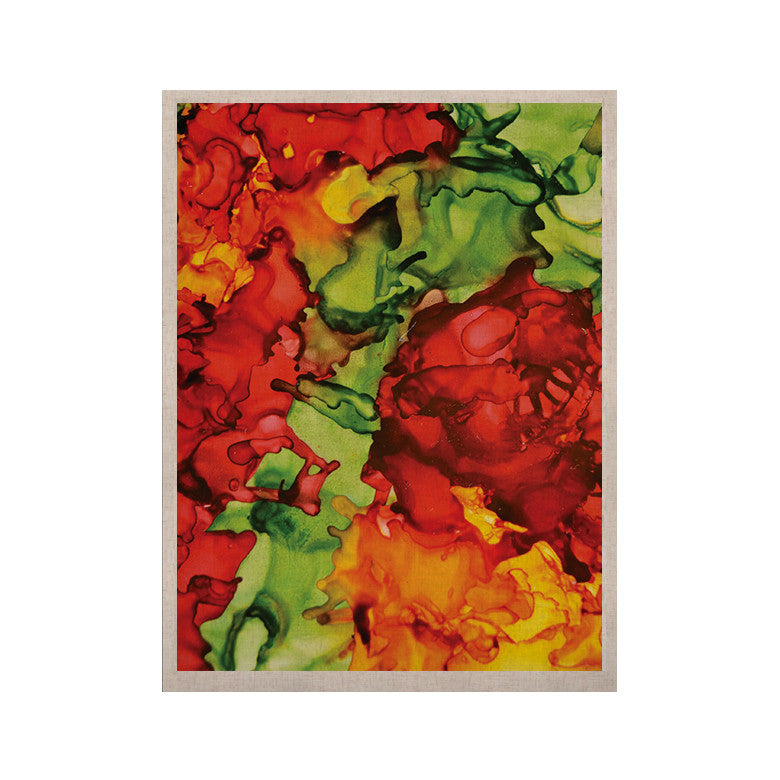 "Claire Day ""One Love"" Red Orange KESS Naturals Canvas (Frame not Included) - KESS InHouse  - 1"