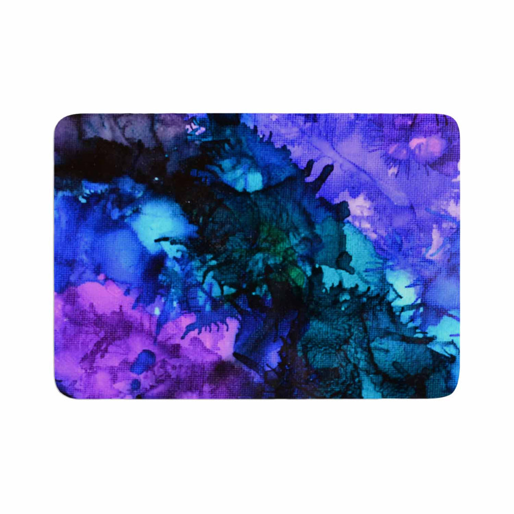"Claire Day ""Soul Searching"" Blue Purple Memory Foam Bath Mat - KESS InHouse"
