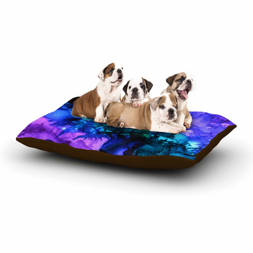 "Claire Day ""Soul Searching"" Blue Purple Dog Bed - KESS InHouse  - 1"