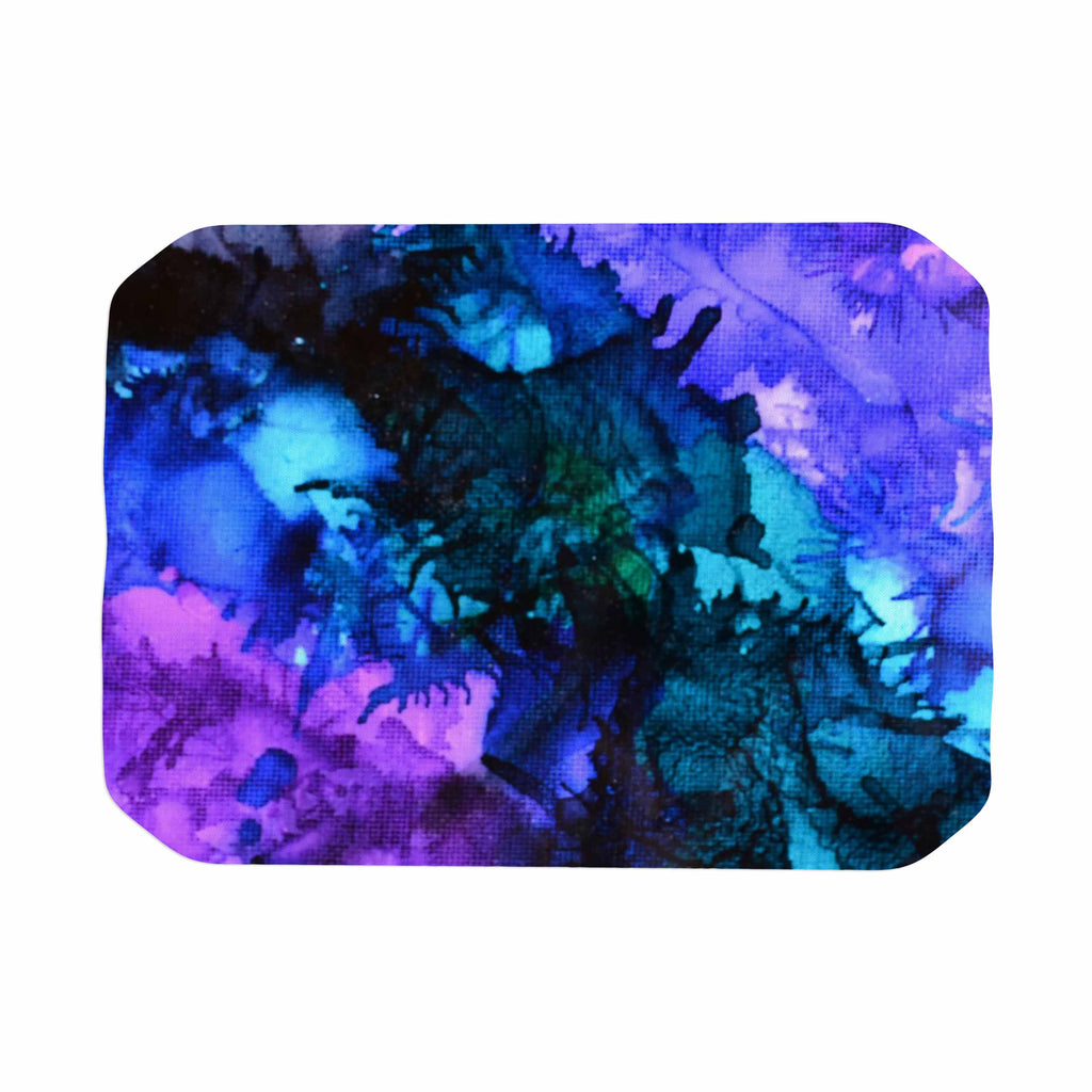 "Claire Day ""Soul Searching"" Blue Purple Place Mat - KESS InHouse"