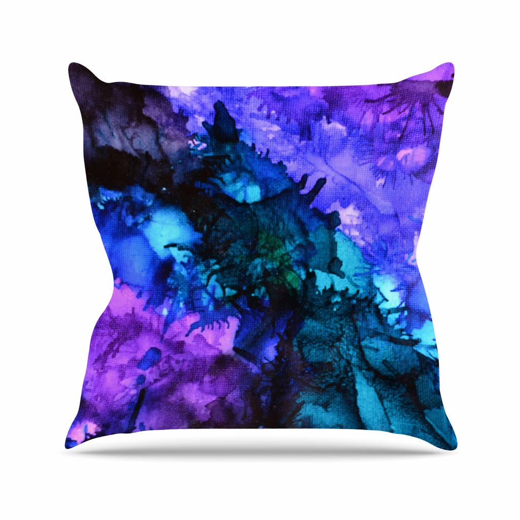 "Claire Day ""Soul Searching"" Blue Purple Throw Pillow - KESS InHouse  - 1"