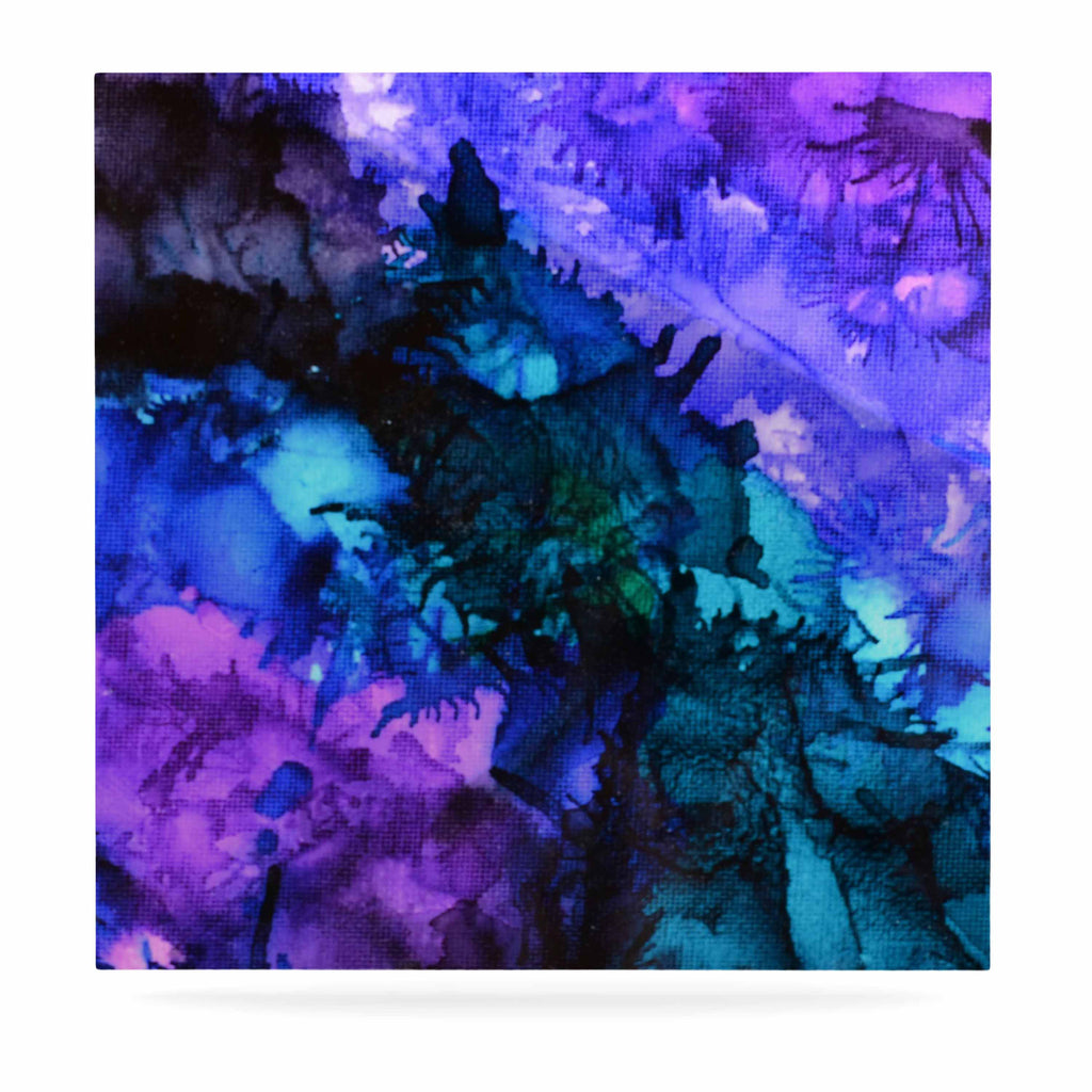 "Claire Day ""Soul Searching"" Blue Purple Luxe Square Panel - KESS InHouse  - 1"