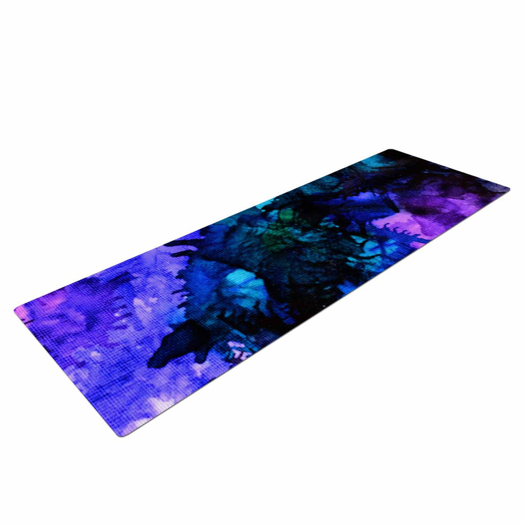 "Claire Day ""Soul Searching"" Blue Purple Yoga Mat - KESS InHouse  - 1"