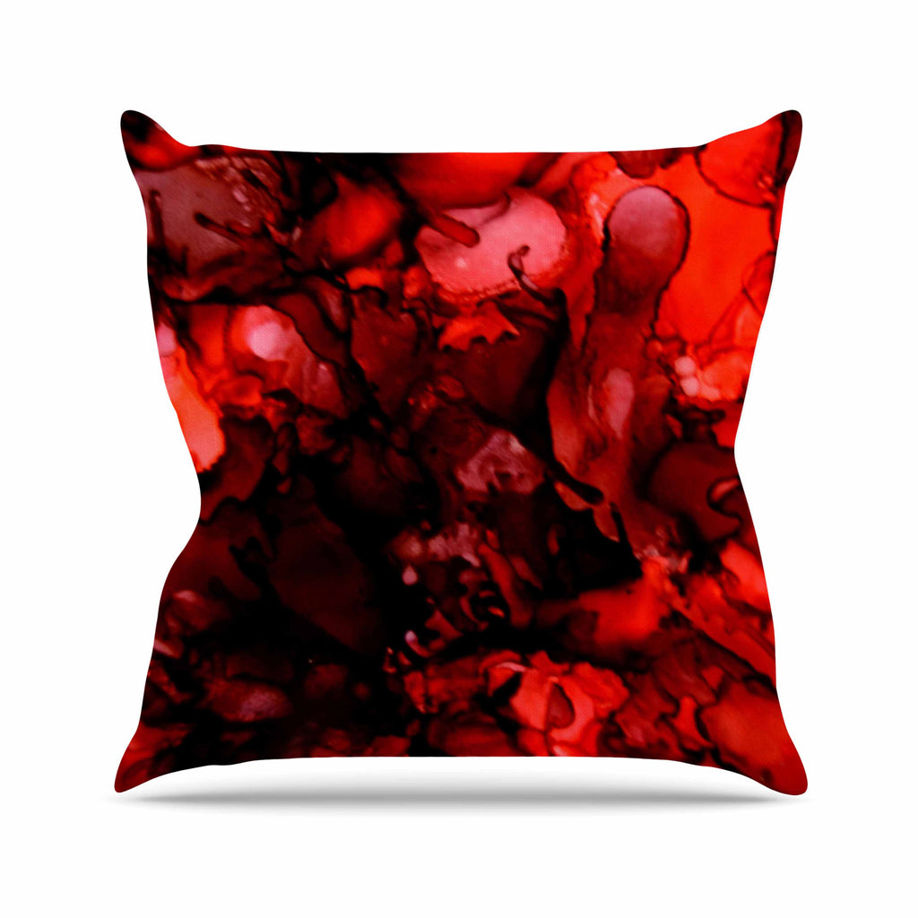 Dark Red Throw Pillows.Dark Red Throw Pillow By Claire Day Kess Inhouse