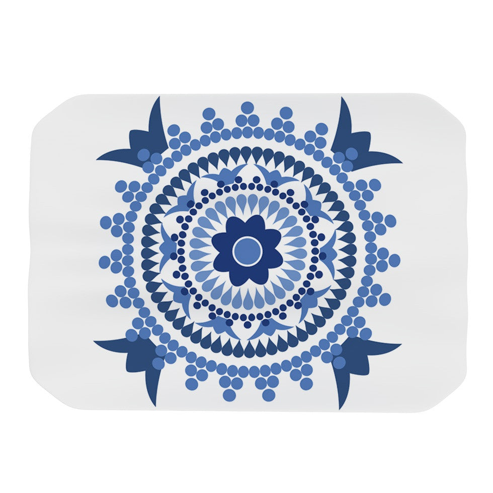 "Carolyn Greifeld ""Bohemian Blues"" Blue White Place Mat - KESS InHouse"