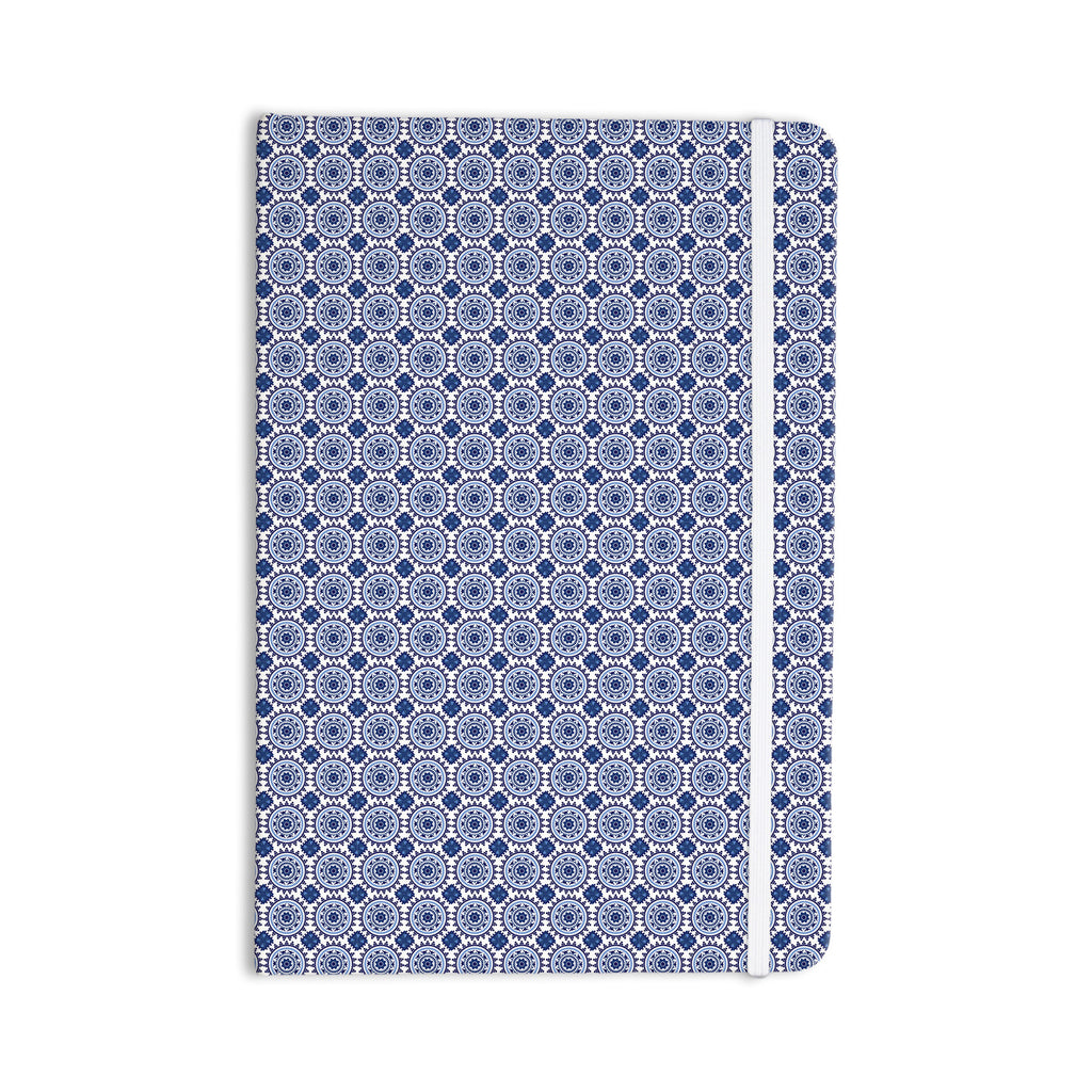 "Carolyn Greifeld ""Bohemian Blues II"" Blue Geometric Everything Notebook - KESS InHouse  - 1"