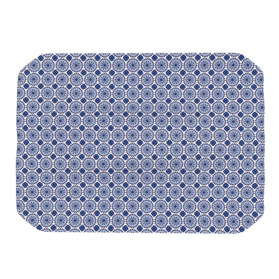 "Carolyn Greifeld ""Bohemian Blues II"" Blue Geometric Place Mat - KESS InHouse"