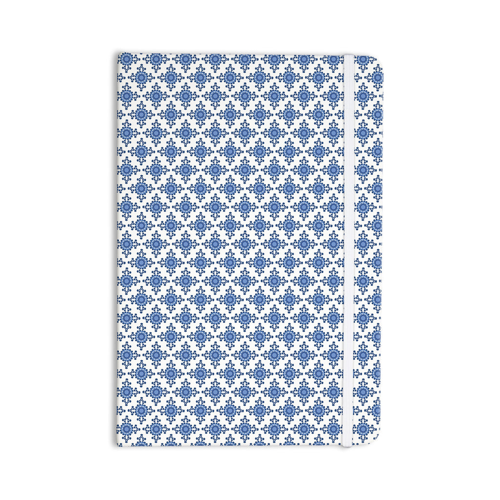 "Carolyn Greifeld ""Bohemian Blues III"" White Blue Everything Notebook - KESS InHouse  - 1"