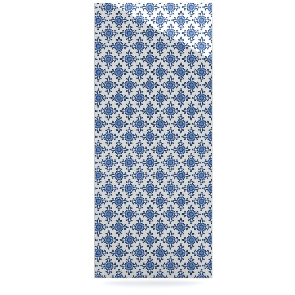 "Carolyn Greifeld ""Bohemian Blues III"" White Blue Luxe Rectangle Panel - KESS InHouse  - 1"
