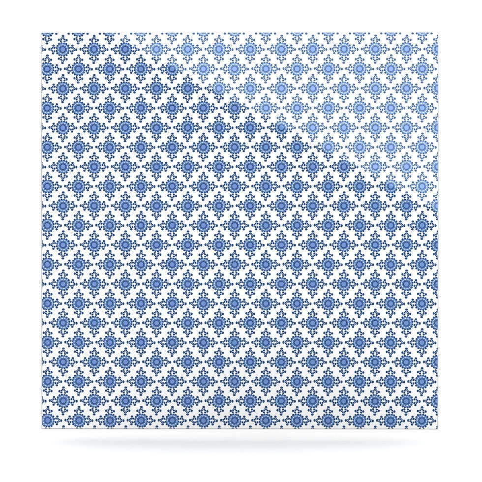 "Carolyn Greifeld ""Bohemian Blues III"" White Blue Luxe Square Panel - KESS InHouse  - 1"