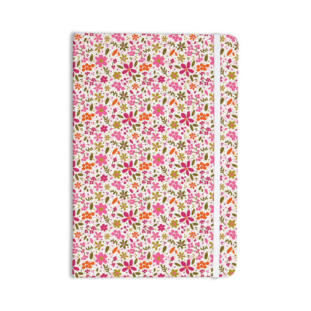 "Carolyn Greifeld ""Pink Flowers Garden"" Pink Red Everything Notebook - KESS InHouse  - 1"