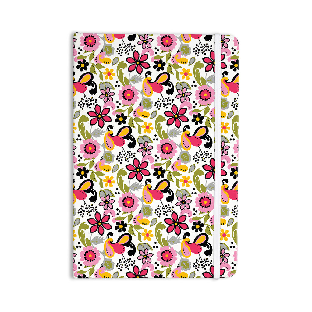 "Carolyn Greifeld ""Pretty Florals"" Pink Yellow Everything Notebook - KESS InHouse  - 1"