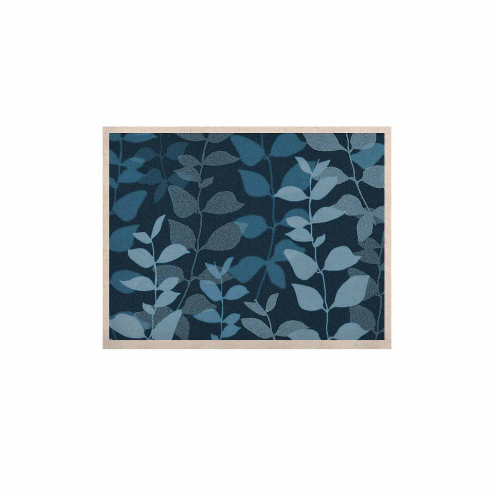 "Carolyn Greifeld ""Leaves Of Dreams"" Blue KESS Naturals Canvas (Frame not Included) - KESS InHouse  - 1"