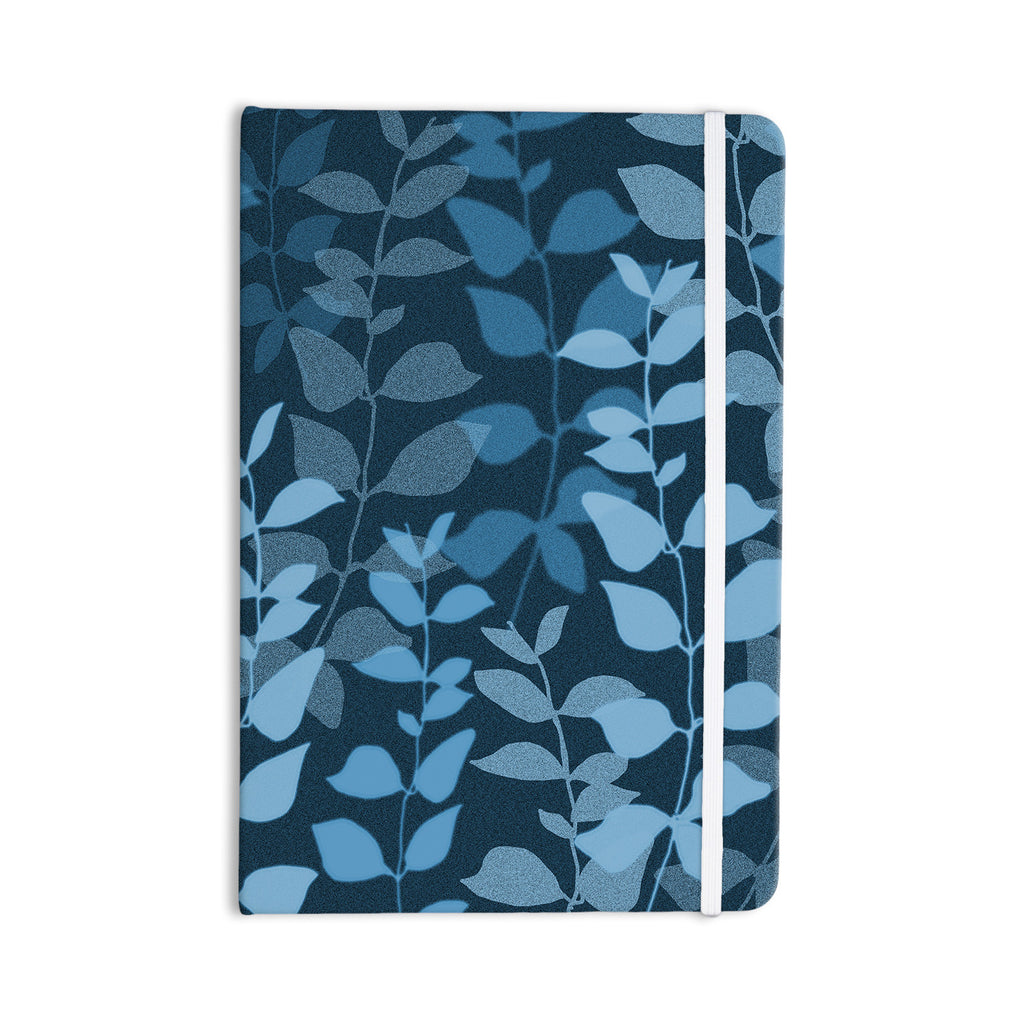 "Carolyn Greifeld ""Leaves Of Dreams"" Blue Everything Notebook - KESS InHouse  - 1"