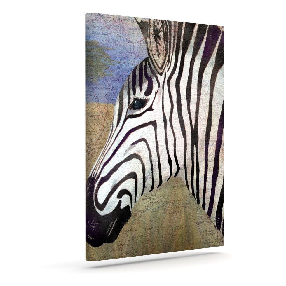"Catherine Holcombe ""Zebransky"" Outdoor Canvas Wall Art - KESS InHouse  - 1"