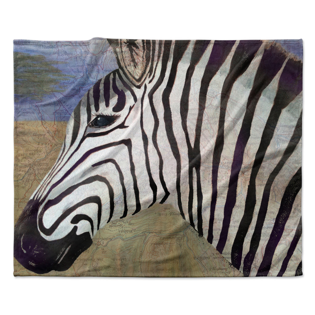 "Catherine Holcombe ""Zebransky"" Fleece Throw Blanket"