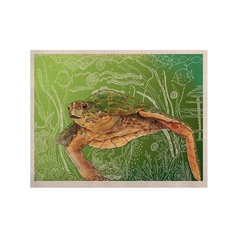 "Catherine Holcombe ""Shelley Green Sea"" KESS Naturals Canvas (Frame not Included) - KESS InHouse  - 1"