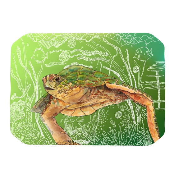 "Catherine Holcombe ""Shelley Green Sea"" Place Mat - KESS InHouse"