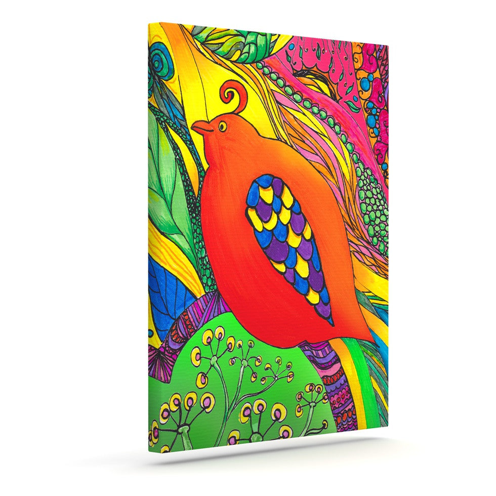 "Catherine Holcombe ""Psycho-Delic Dan"" Outdoor Canvas Wall Art - KESS InHouse  - 1"