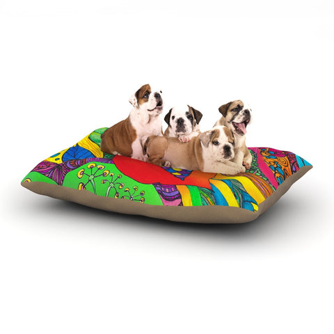 "Catherine Holcombe ""Psycho-Delic Dan"" Dog Bed - KESS InHouse  - 1"