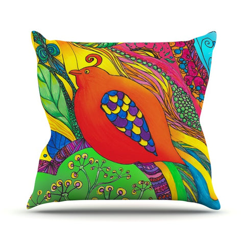"Catherine Holcombe ""Psycho-Delic Dan"" Throw Pillow - KESS InHouse  - 1"