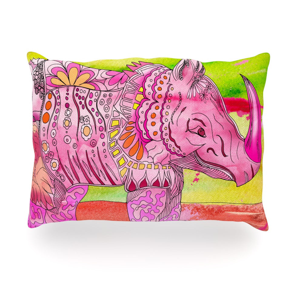 "Catherine Holcombe ""Pretty in Pink"" Oblong Pillow - KESS InHouse"