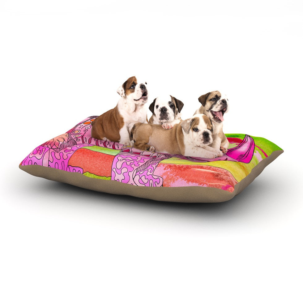 "Catherine Holcombe ""Pretty In Pink"" Dog Bed - KESS InHouse  - 1"