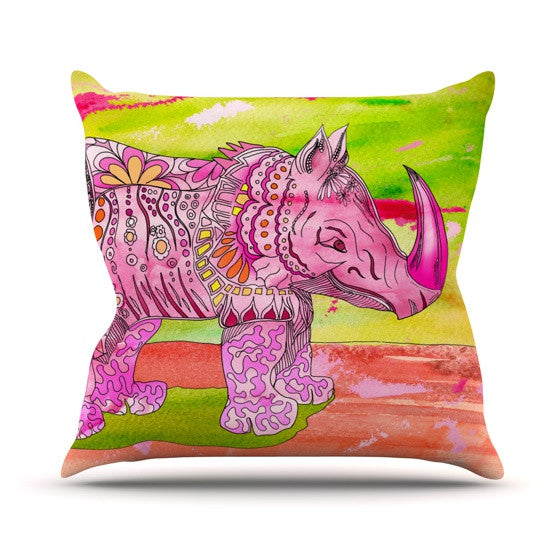 "Catherine Holcombe ""Pretty in Pink"" Outdoor Throw Pillow - KESS InHouse  - 1"