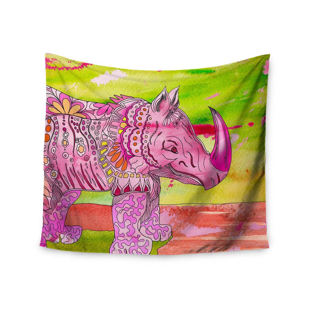 "Catherine Holcombe ""Pretty in Pink"" Wall Tapestry - KESS InHouse  - 1"