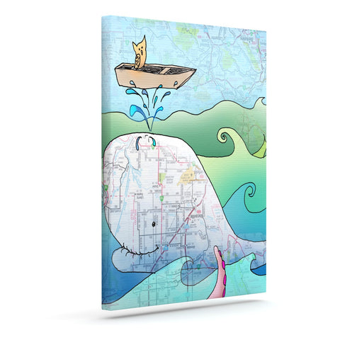 "Catherine Holcombe ""I'm on a Boat"" Outdoor Canvas Wall Art - KESS InHouse  - 1"