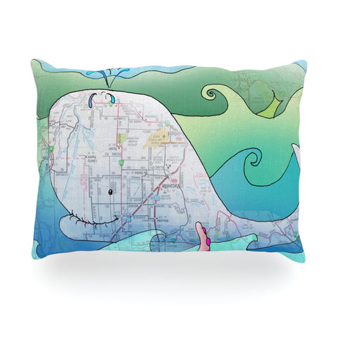 "Catherine Holcombe ""I'm on a Boat"" Oblong Pillow - KESS InHouse"