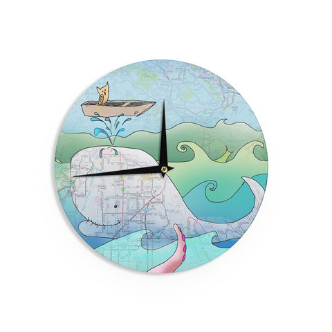 "Catherine Holcombe ""I'm on a Boat"" Wall Clock - KESS InHouse"