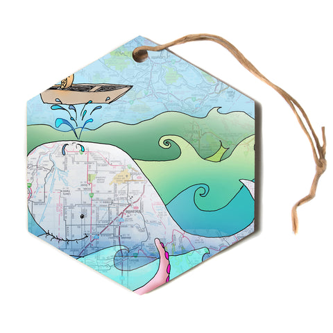 "Catherine Holcombe ""I'm on a Boat""  Hexagon Holiday Ornament"