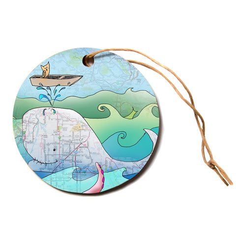 "Catherine Holcombe ""I'm on a Boat""  Circle Holiday Ornament"