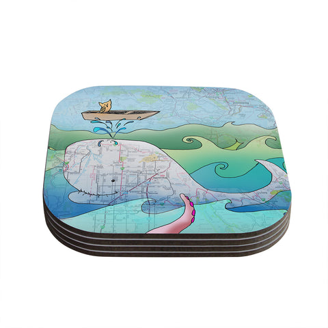 "Catherine Holcombe ""I'm on a Boat"" Coasters (Set of 4)"