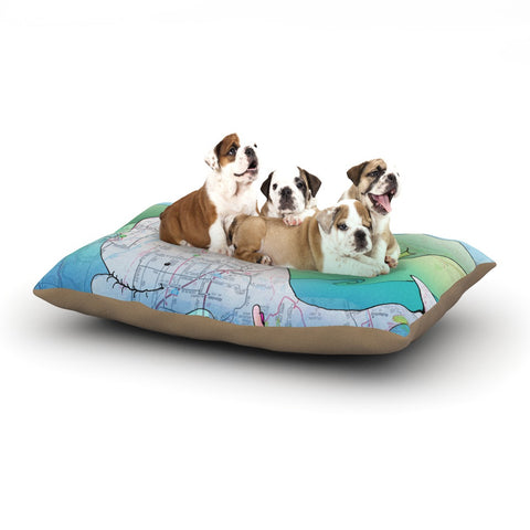 "Catherine Holcombe ""I'm on a Boat"" Dog Bed - KESS InHouse  - 1"