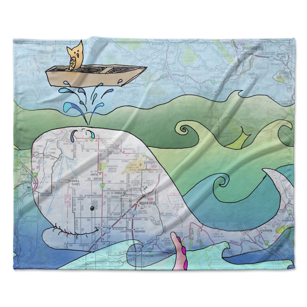 "Catherine Holcombe ""I'm on a Boat""  Fleece Throw Blanket"