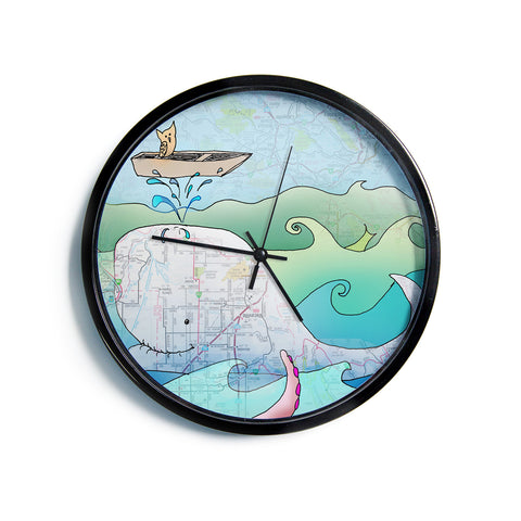 "Catherine Holcombe ""I'm on a Boat""  Modern Wall Clock"