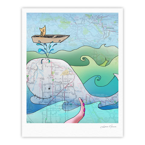 "Catherine Holcombe ""I'm on a Boat"" Fine Art Gallery Print - KESS InHouse"