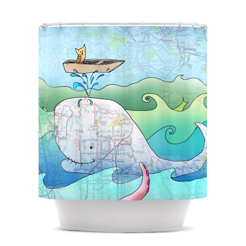 "Catherine Holcombe ""I'm on a Boat"" Shower Curtain - KESS InHouse"