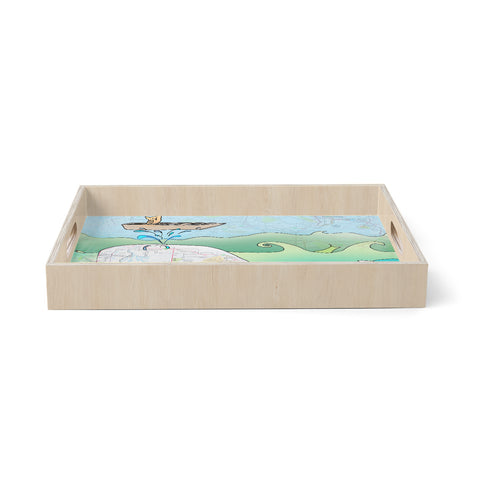 "Catherine Holcombe ""I'm on a Boat""  Birchwood Tray"