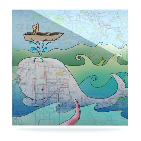 "Catherine Holcombe ""I'm on a Boat"" Luxe Square Panel - KESS InHouse  - 1"