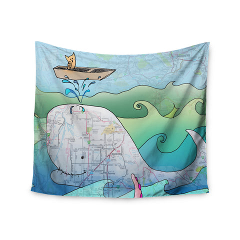 "Catherine Holcombe ""I'm on a Boat"" Wall Tapestry - KESS InHouse  - 1"