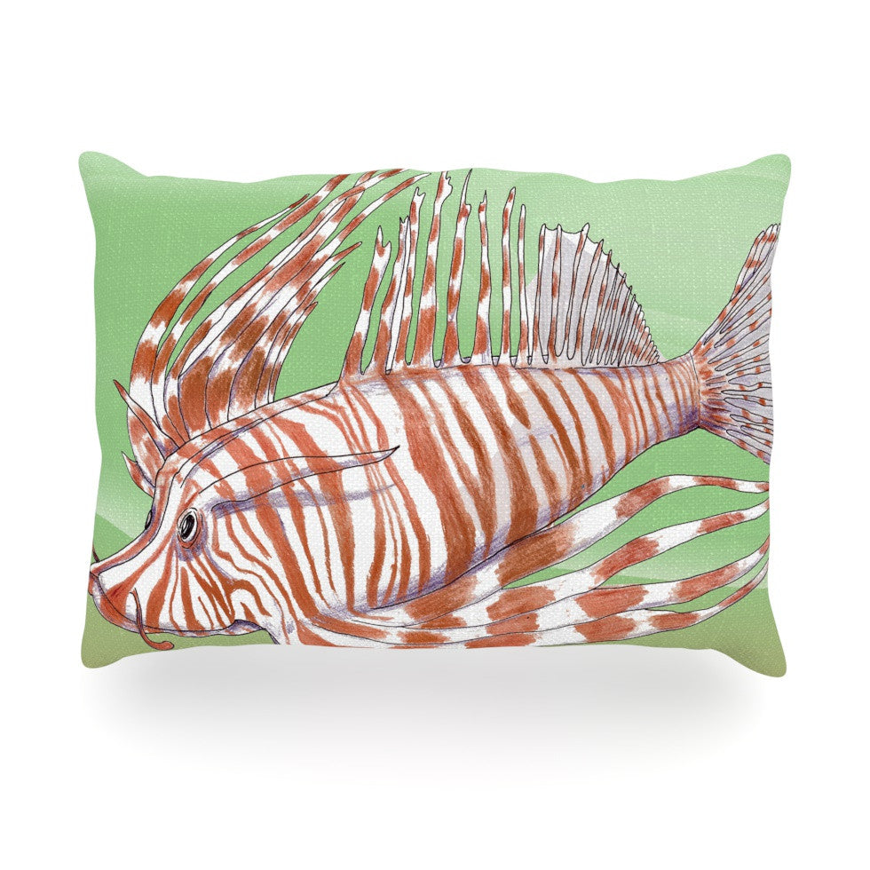 "Catherine Holcombe ""Fish Manchu"" Oblong Pillow - KESS InHouse"