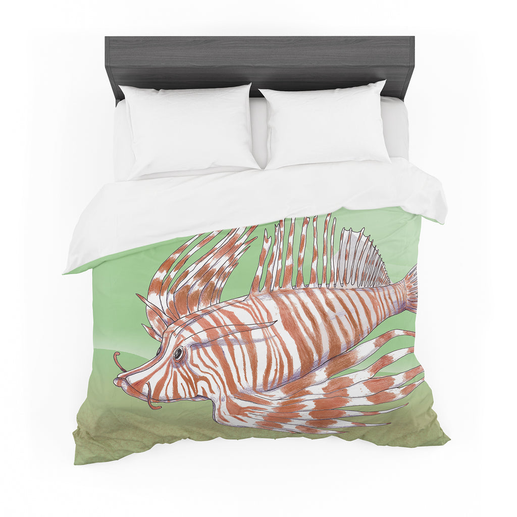 "Catherine Holcombe ""Fish Manchu"" Featherweight Duvet Cover"