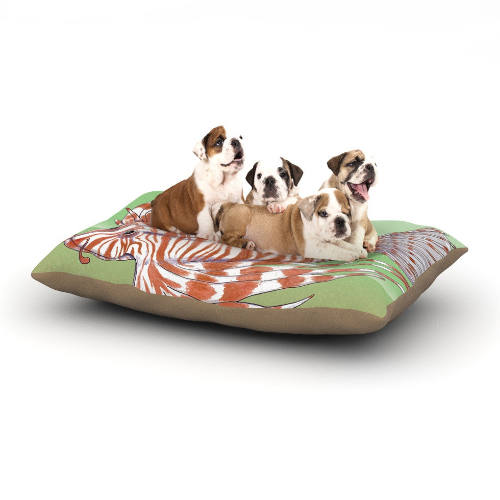 "Catherine Holcombe ""Fish Manchu"" Dog Bed - KESS InHouse  - 1"