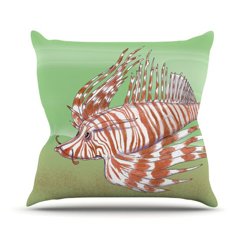 "Catherine Holcombe ""Fish Manchu"" Outdoor Throw Pillow - KESS InHouse  - 1"
