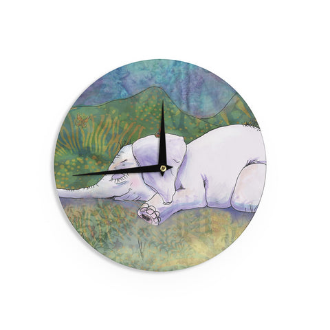 "Catherine Holcombe ""Ernie's Dream"" Wall Clock - KESS InHouse"