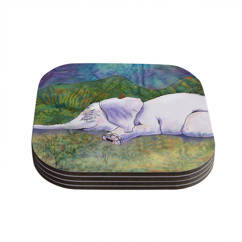"Catherine Holcombe ""Ernie's Dream"" Coasters (Set of 4)"