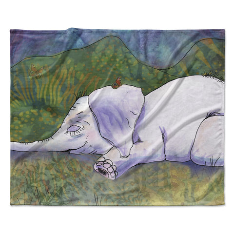 "Catherine Holcombe ""Ernie's Dream""  Fleece Throw Blanket"